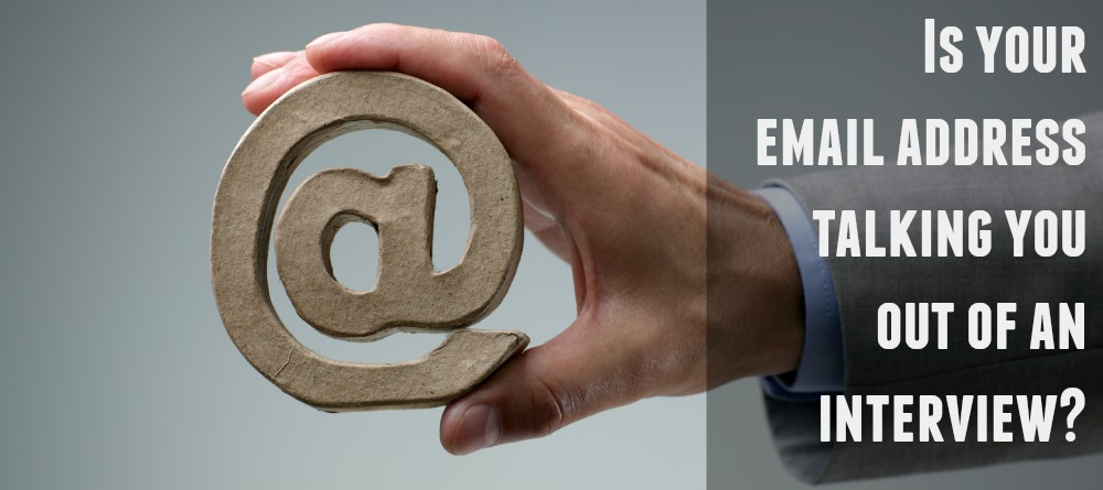 Is your email address talking you out of an interview?